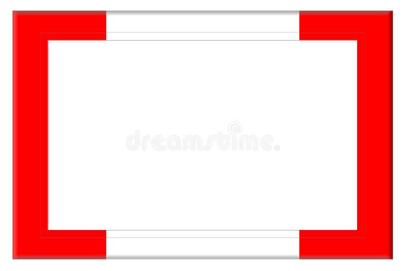 红色和白色框架 皇族释放例证