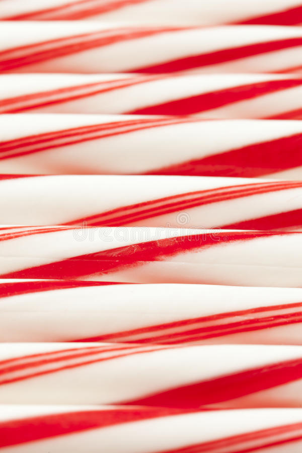 红色和白色棒棒糖 图库摄影