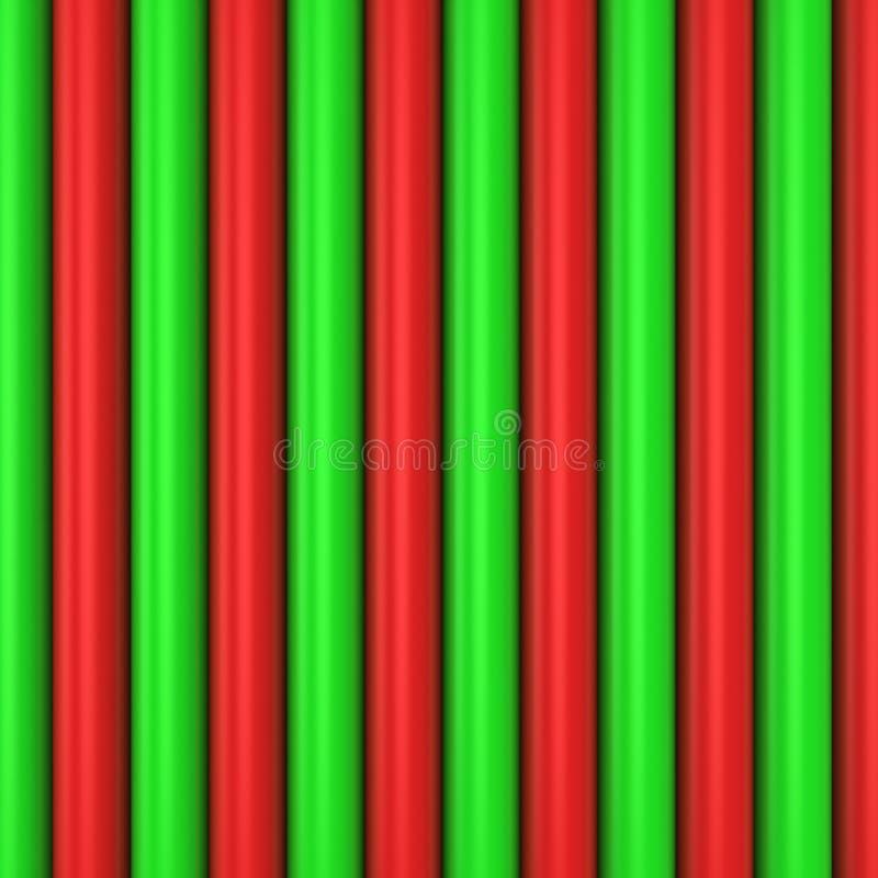 红色和绿色模式 皇族释放例证
