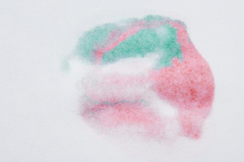 红色和绿色油漆污点 免版税图库摄影