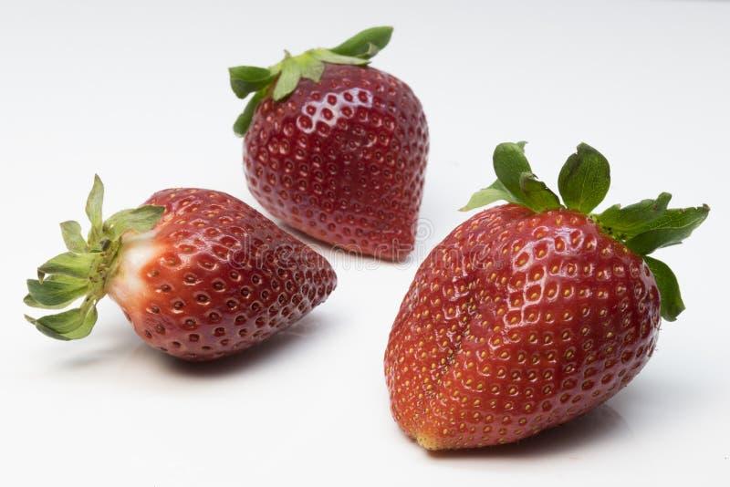 红色和芬芳草莓 库存照片