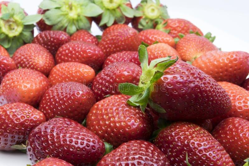 红色和芬芳草莓 免版税图库摄影