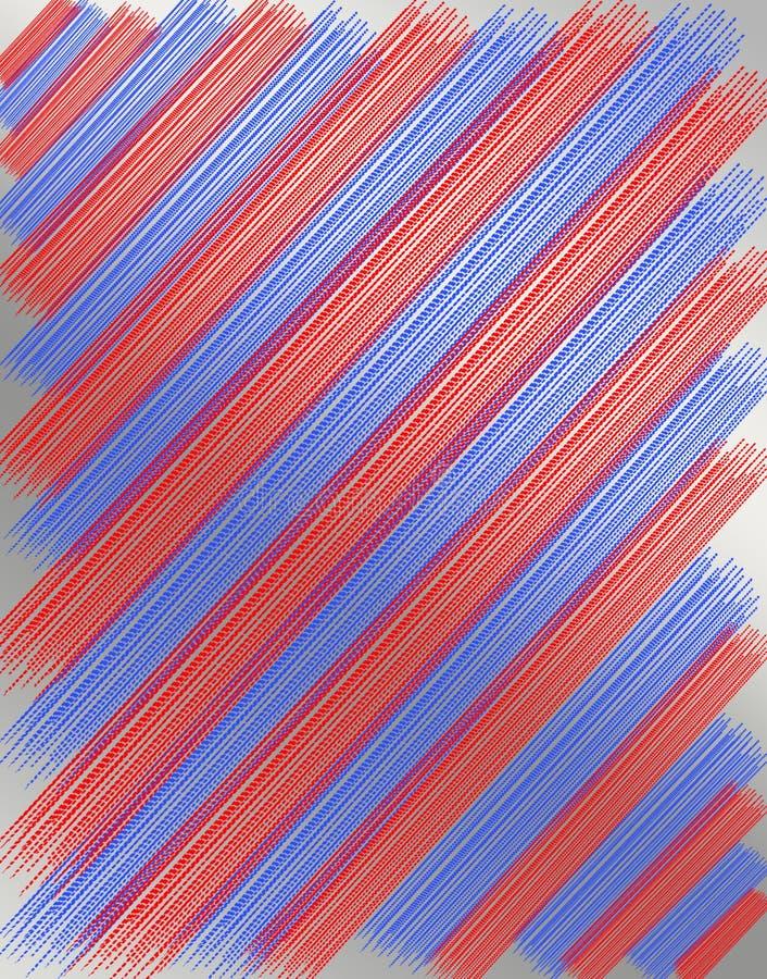 从红色和蓝色小条的纹理 向量例证