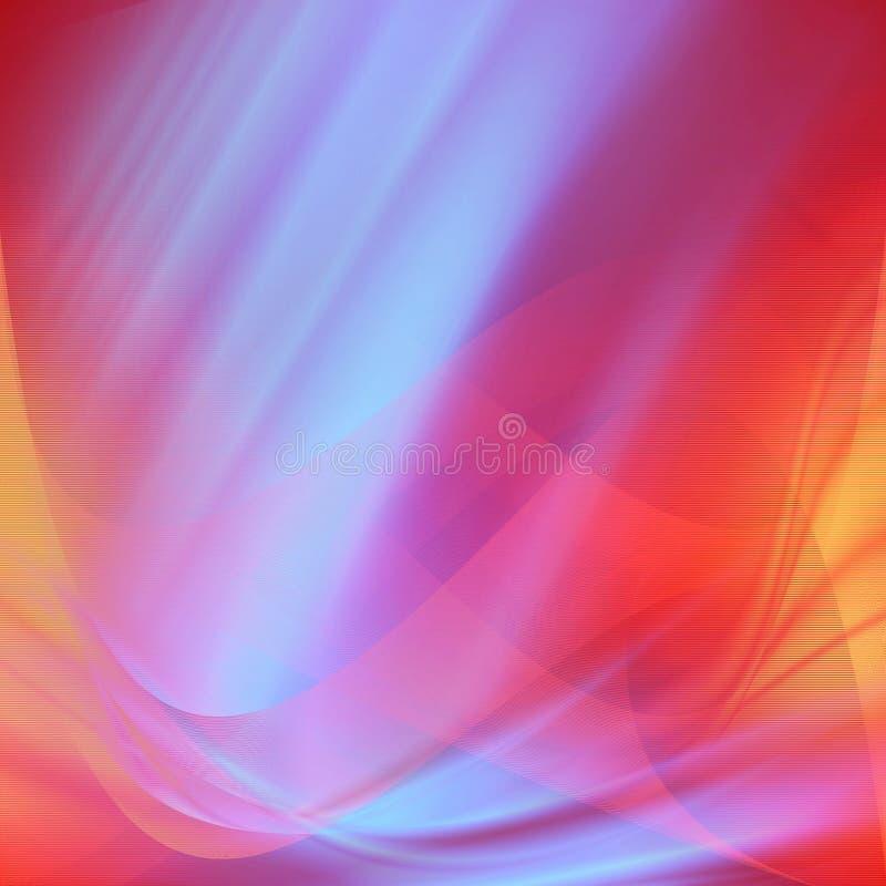 红色和蓝色缎摘要背景排行纹理,与照明设备effectts的valentne背景 皇族释放例证
