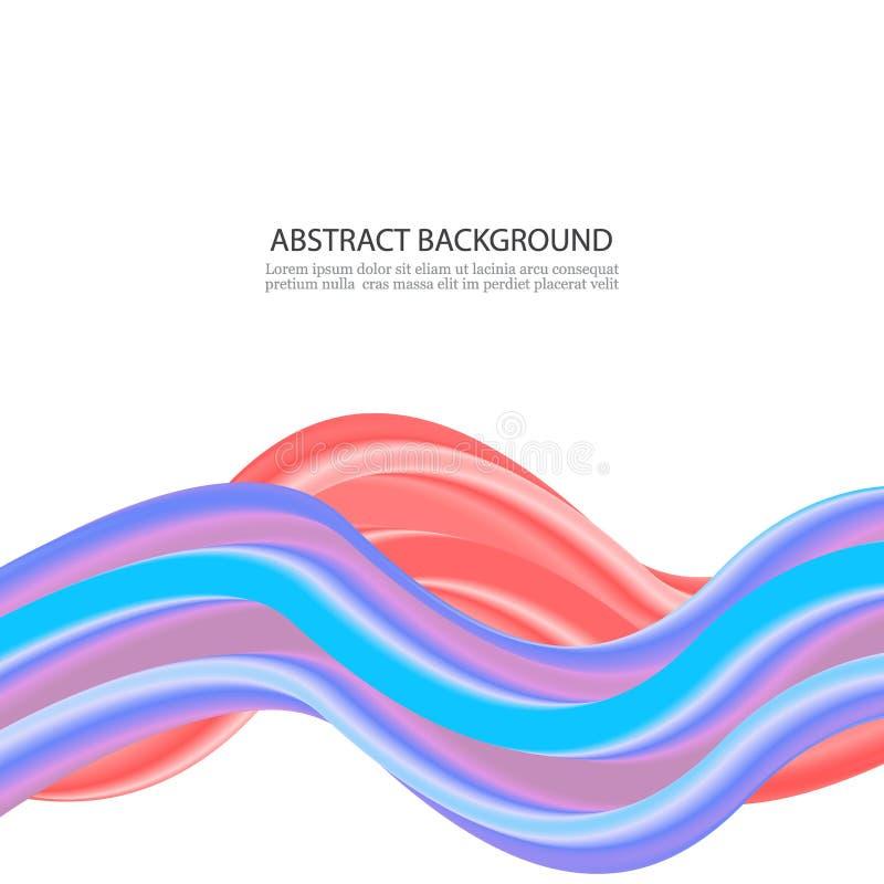 红色和蓝色颜色漩涡概念,抽象背景 皇族释放例证