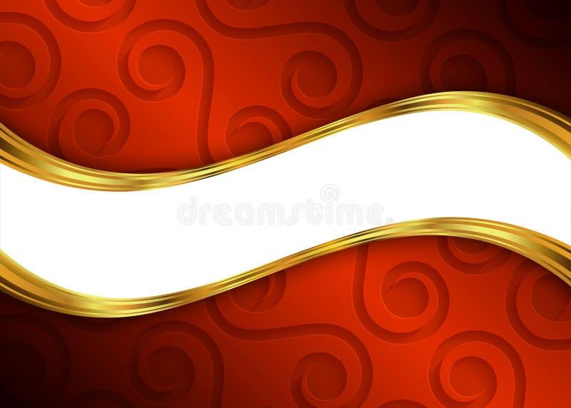 红色和金抽象背景模板网站的,横幅,名片,邀请 皇族释放例证