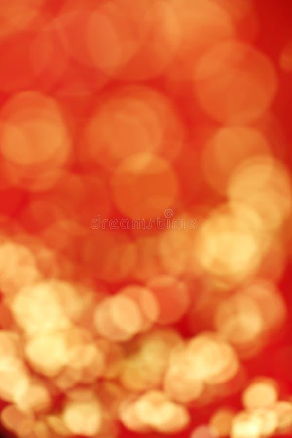 红色和金迷离 免版税库存图片