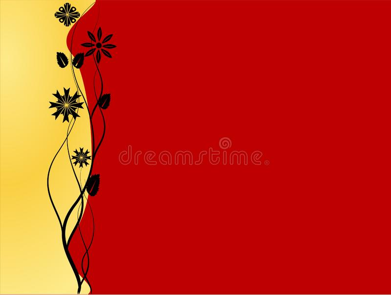 红色和金黄背景 免版税库存图片