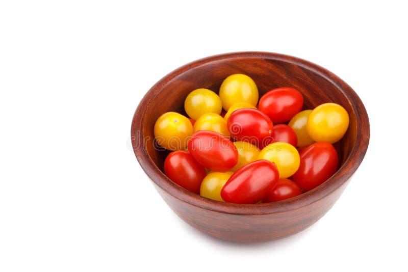 红色和黄色蕃茄樱桃 免版税库存图片