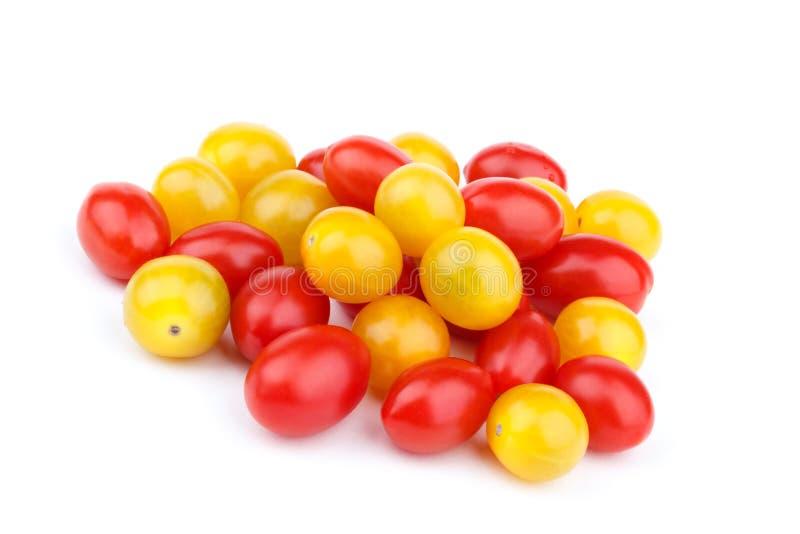 红色和黄色蕃茄樱桃 库存照片