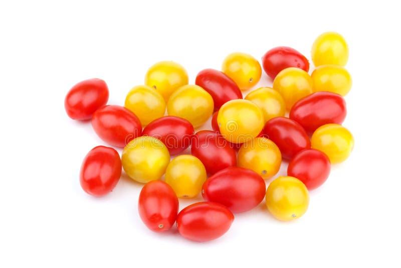 红色和黄色蕃茄樱桃 库存图片