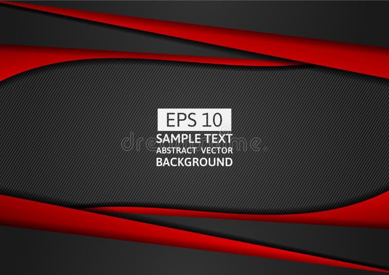 红色和黑几何抽象与拷贝空间您的事务的,传染媒介例证eps10的背景现代设计 库存例证