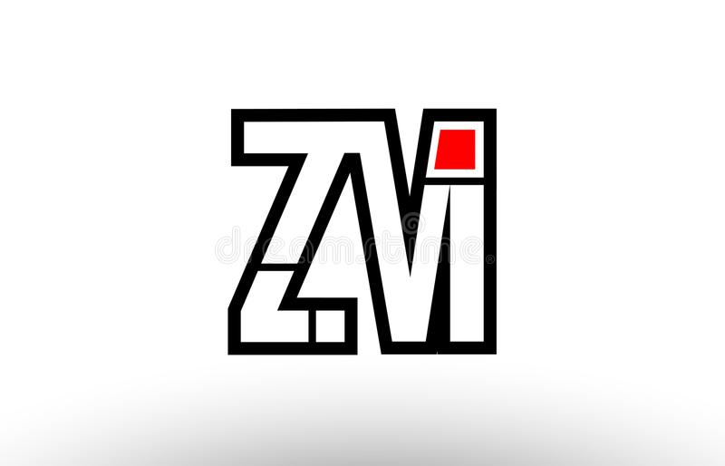 ?M??Mz?_红色和黑字母表信件zm z m商标组合象desig