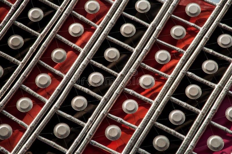 红色和黑色被仿造的背景 图库摄影