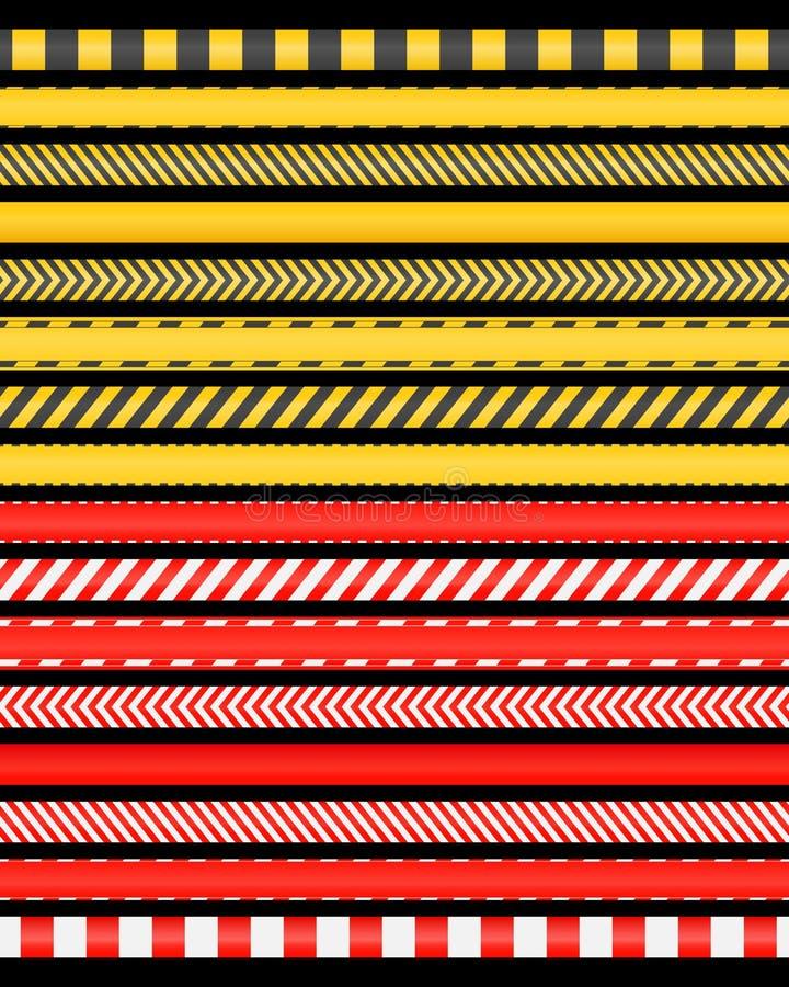 红色和rad磁带 库存例证