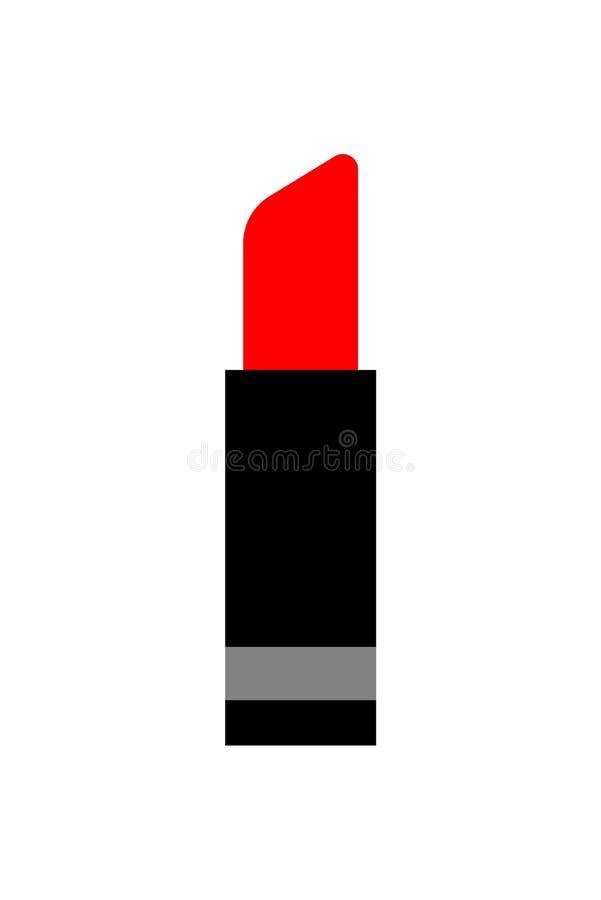 红色唇膏动画片传染媒介例证 向量例证