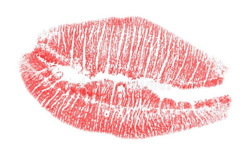 红色嘴唇版本记录 图库摄影
