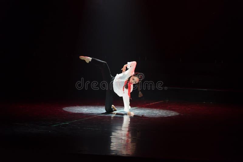 红色围巾1丁香舞蹈戏曲 免版税库存照片
