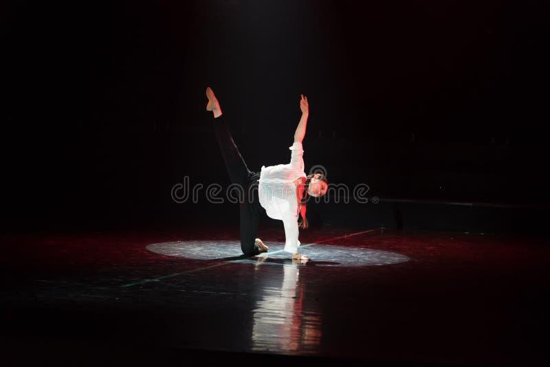 红色围巾3丁香舞蹈戏曲 库存照片