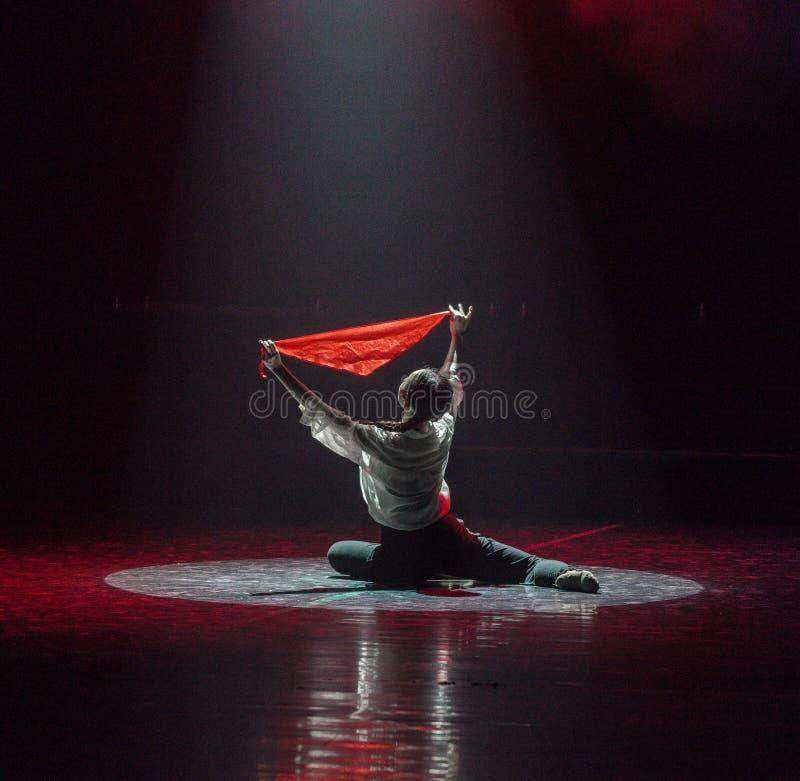 红色围巾5丁香舞蹈戏曲 图库摄影