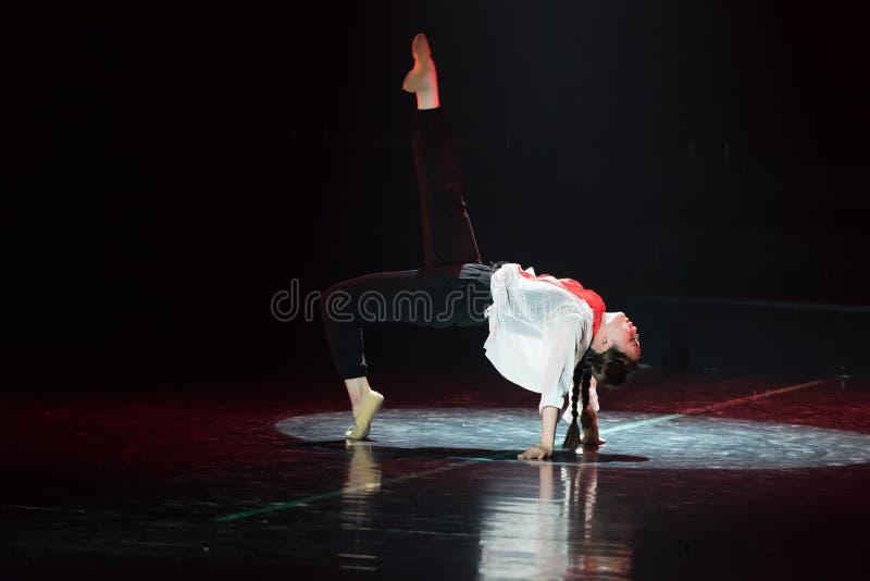 红色围巾21丁香舞蹈戏曲 免版税库存照片