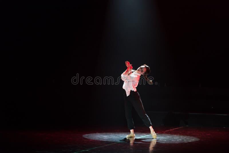 红色围巾22丁香舞蹈戏曲 免版税库存图片