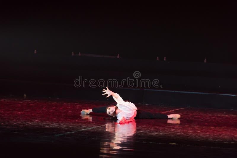 红色围巾29丁香舞蹈戏曲 免版税图库摄影