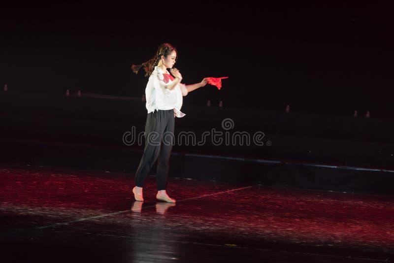红色围巾31丁香舞蹈戏曲 库存照片