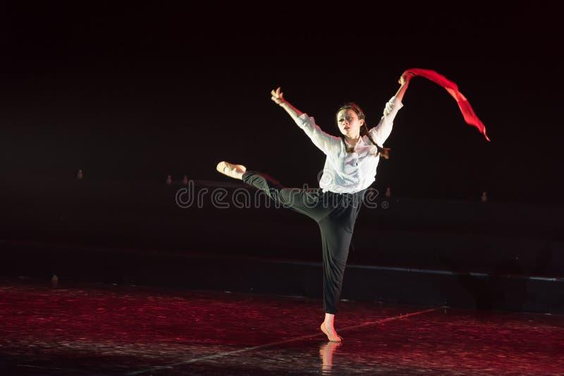 红色围巾32丁香舞蹈戏曲 库存图片