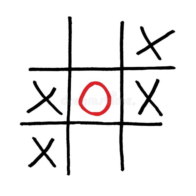红色圈子比赛查出的作用选拔 库存例证