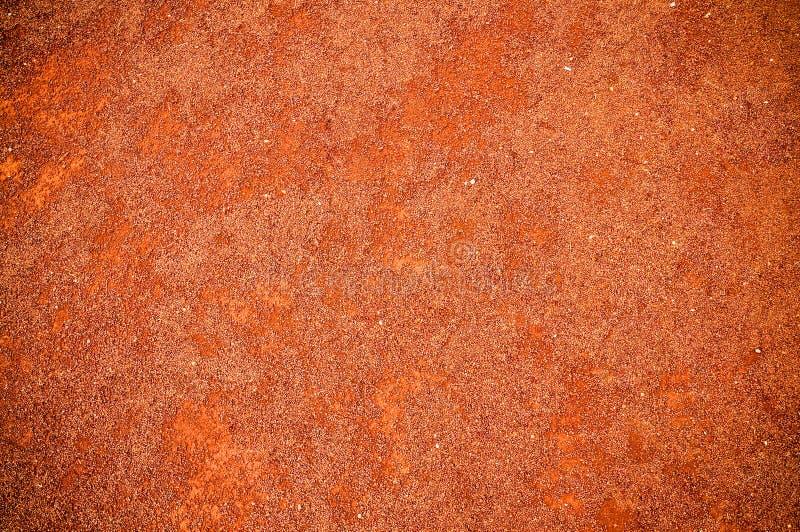 红色土壤纹理 免版税图库摄影