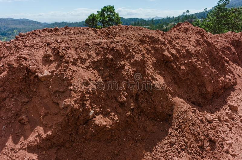 红色土壤 免版税库存照片