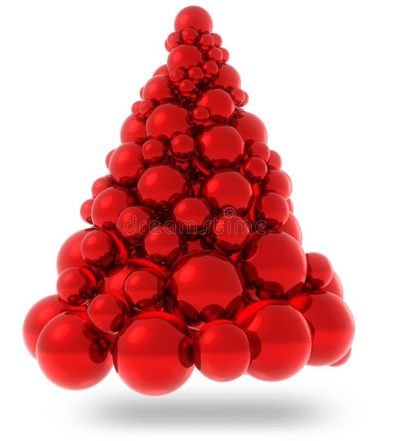 红色圣诞树] 库存例证