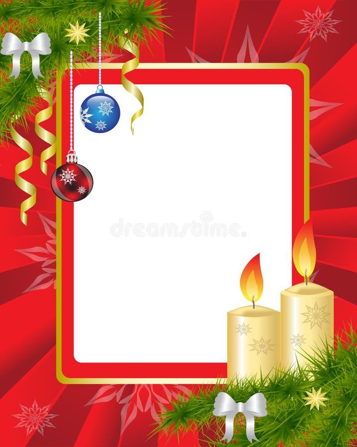红色圣诞节框架 皇族释放例证