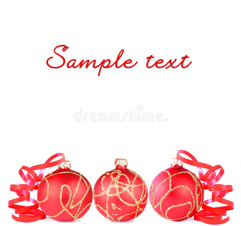 红色圣诞节球 库存照片