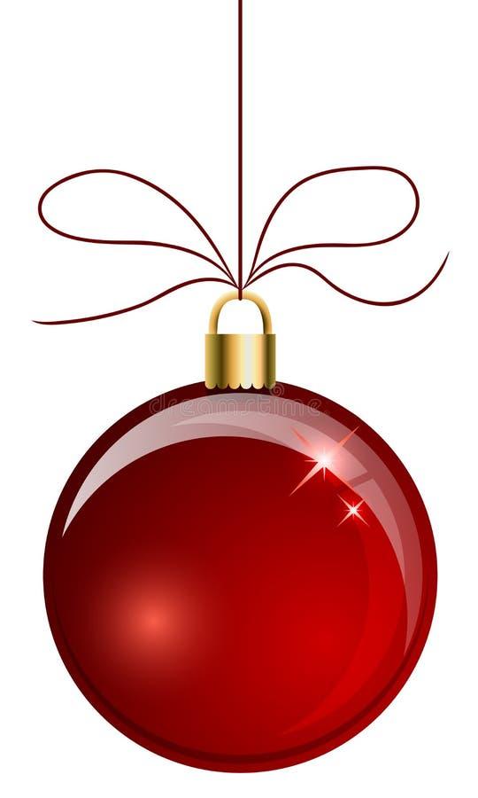 红色圣诞节球 向量例证