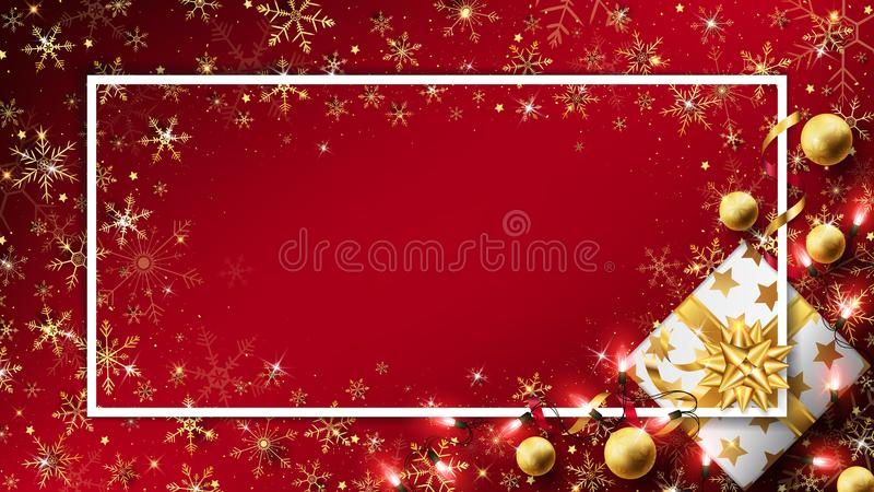 红色圣诞节豪华背景 向量例证