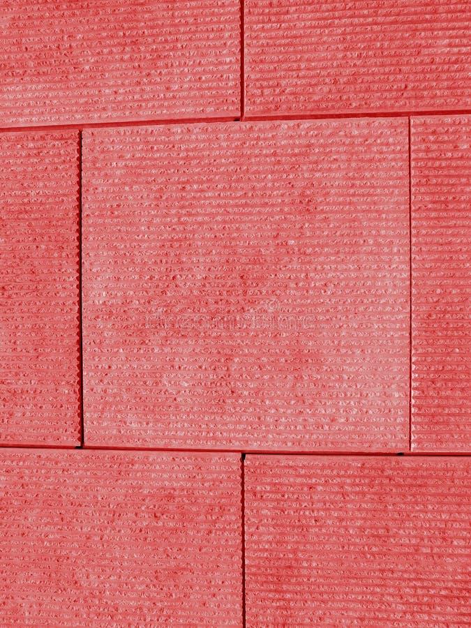红色块墙壁 免版税库存图片