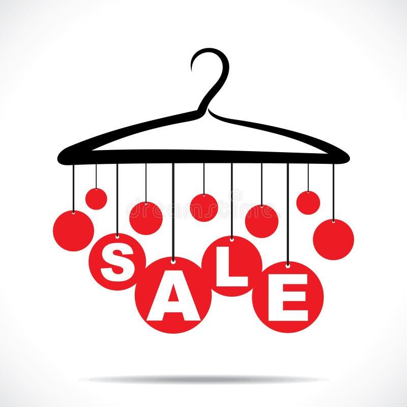 红色垂悬的销售文本 库存例证