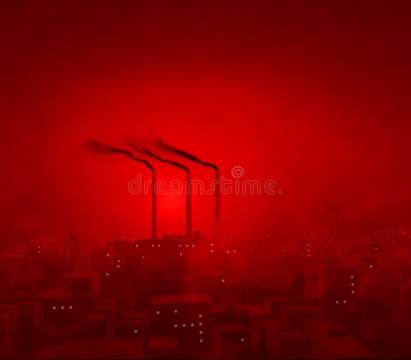 红色城市 向量例证
