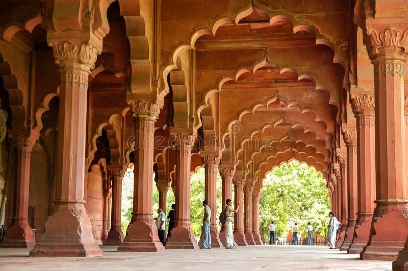 红色堡垒在新德里,印度 免版税图库摄影
