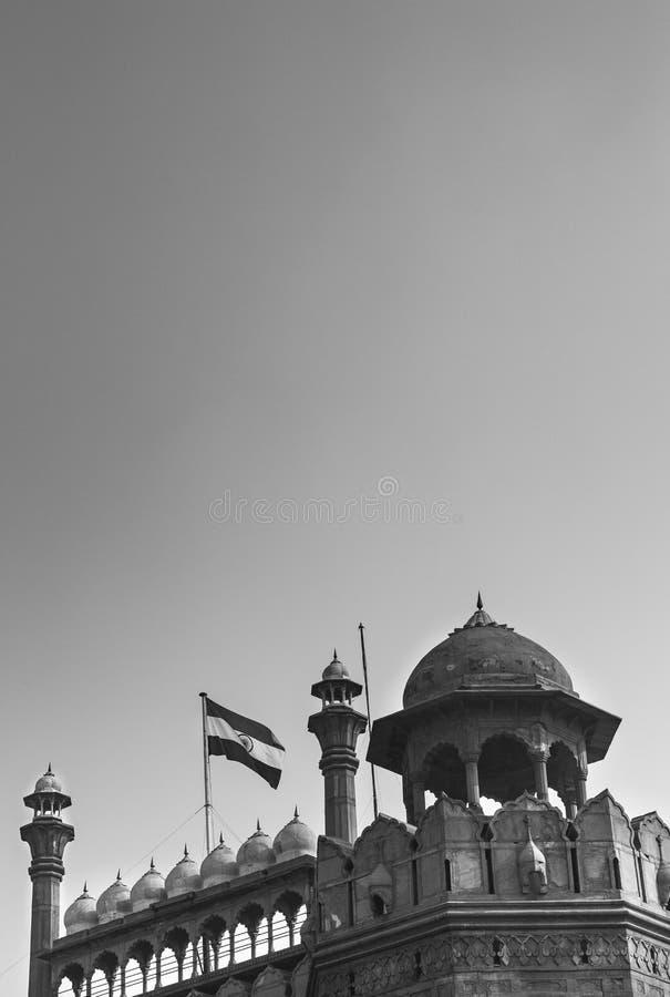 红色堡垒在新德里,印度 免版税库存照片