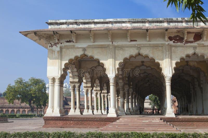 红色堡垒的白色宫殿 侵略 印度 免版税库存照片