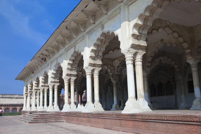 红色堡垒的白色宫殿 侵略 印度 免版税图库摄影