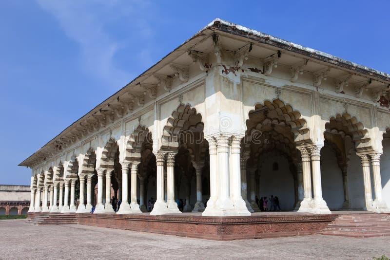 红色堡垒的白色宫殿 侵略 印度 免版税库存图片