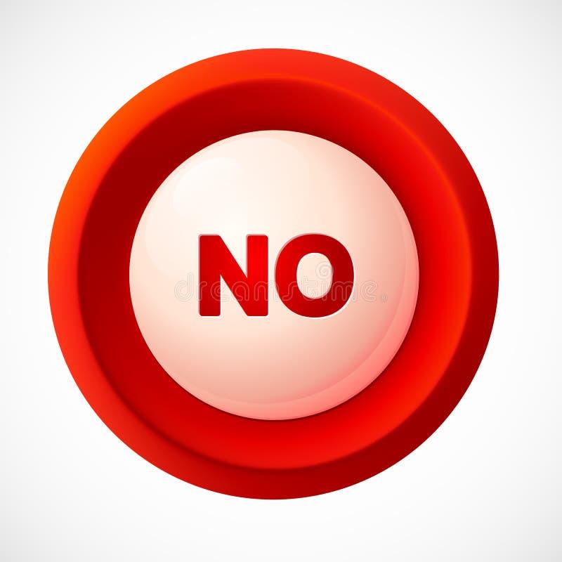 红色塑料传染媒介没有按钮 库存例证