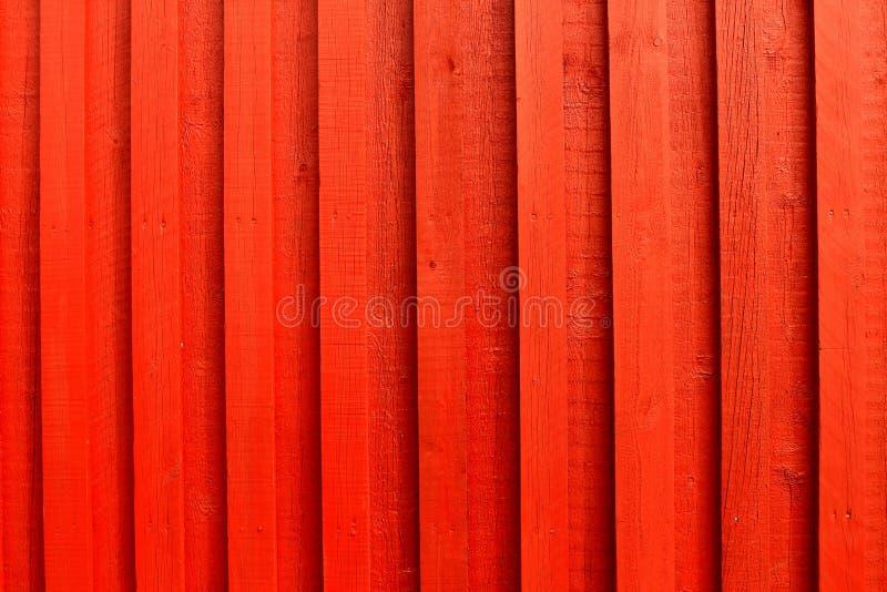 红色墙壁木头 免版税库存照片