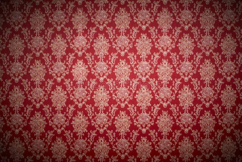 红色墙纸 库存图片