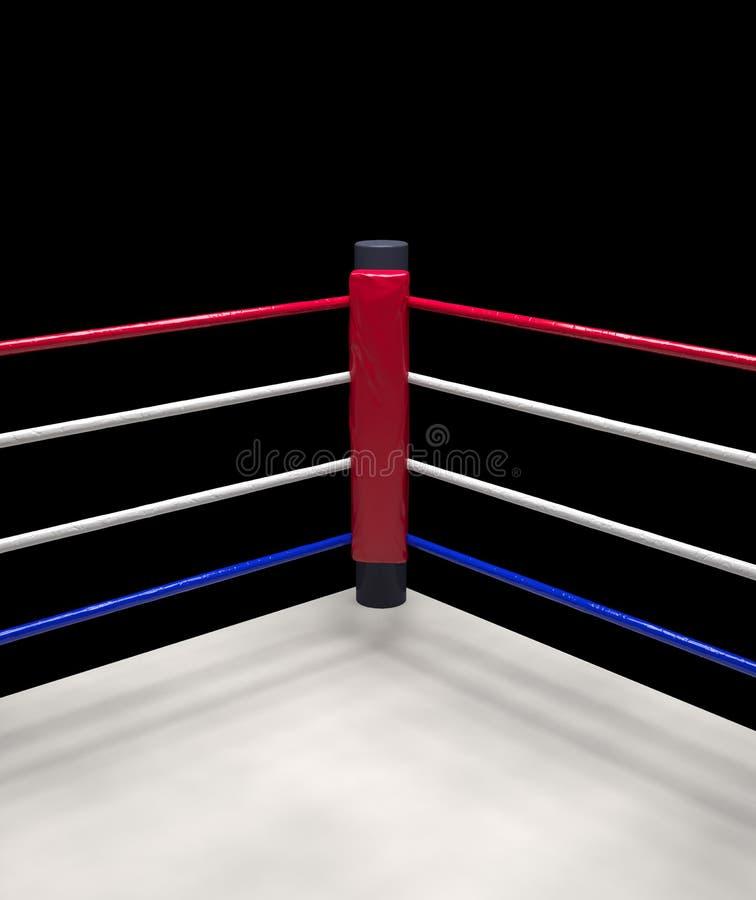 红色壁角拳击台背景3d回报 皇族释放例证