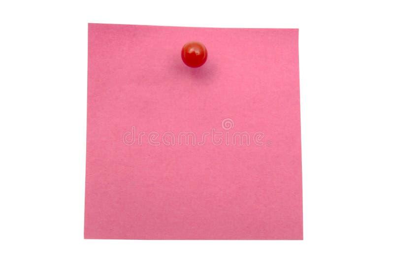 红色备忘录纸 免版税库存照片